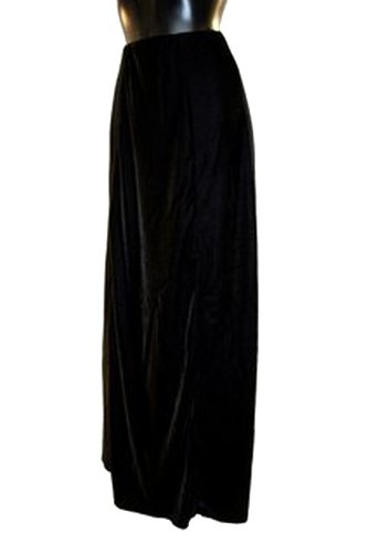 Altissimo-Womens-Black-Long-Velvet-Evening-Steampunk-Goth-Victorian-Skirt-6-22