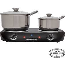 Farberware Black Double Burner (Faberware Hot Plate compare prices)