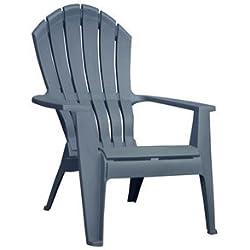Adams Mfg 8371-94-3901 Blu Adirondack Chair Resin, Patio Chairs