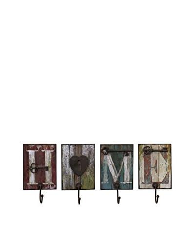 Casa Set Of 4 Wall Hooks, Multi