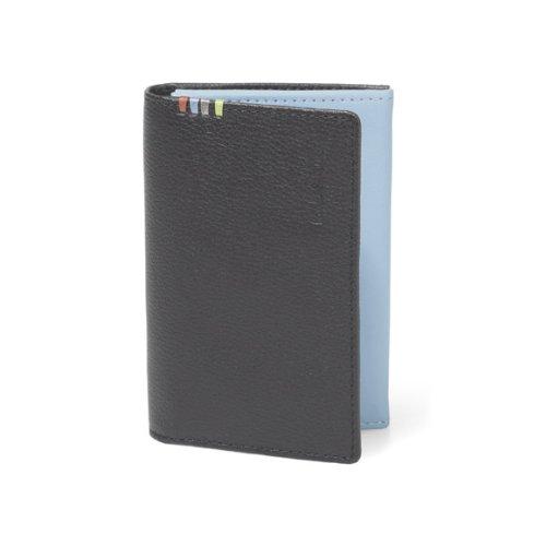(ポールスミス) Paul Smith カードケース コントラストインサイド 名刺入れ ブラック×ブルー [並行輸入品]
