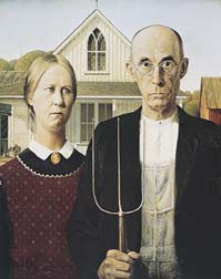 American Gothic Art Poster by Grant WoodB0000DIRE9