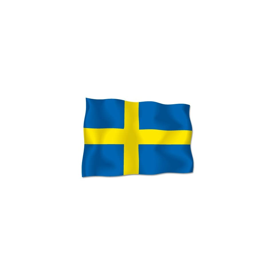 Sweden Swedish Sverige Flag car bumper sticker decal 6