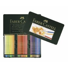 Faber-Castell POLYCHROMOS Artist Color Pencils Tin - 60 count 110060 Metal Tin of 60
