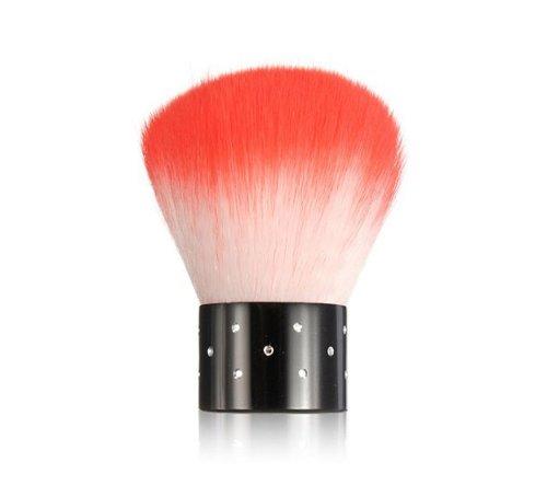 niceeshop(TM) Mini Strasssteine Kosmetik Nagel Art Staubfilter Gesichtsbürste, Rot und Weiß