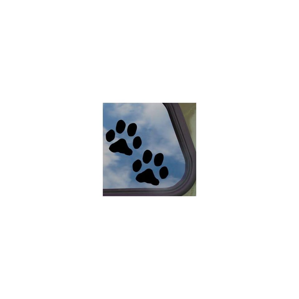Dog Paw Prints Black Decal Car Truck Bumper Window Sticker