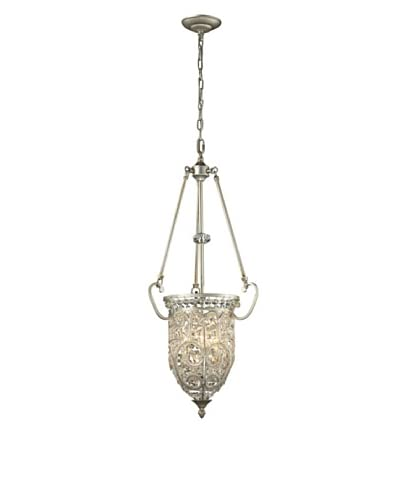 Artistic Lighting Andalusia Collection 3-Light Pendant, Aged Silver