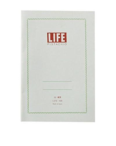 Life Co., Ltd. Pistachio A6 Ruled Notepad, Pistachio