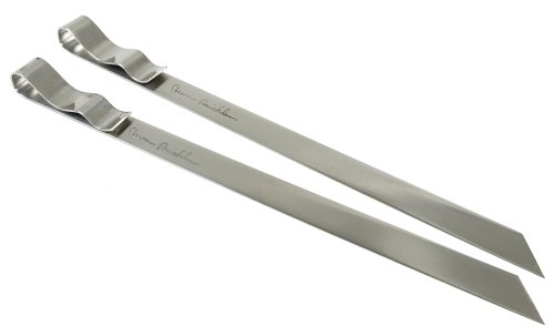 Steven Raichlen Best of Barbecue Signature Stainless Steel Grilling Skewers, Set of 2 (7/8-inch Wide)