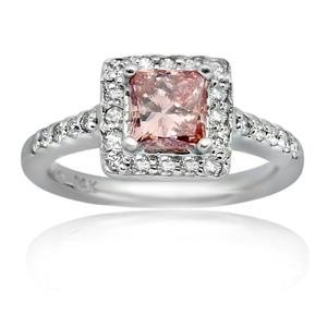 1.55 CT Pink Diamond Engagement Ring