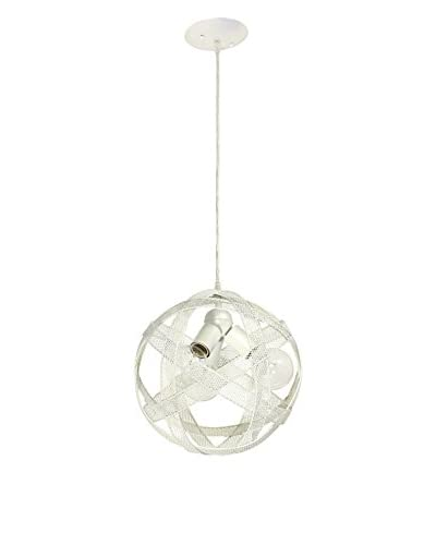 Varaluz At-Mesh-Sphere 3-Light Pendant, Pearl