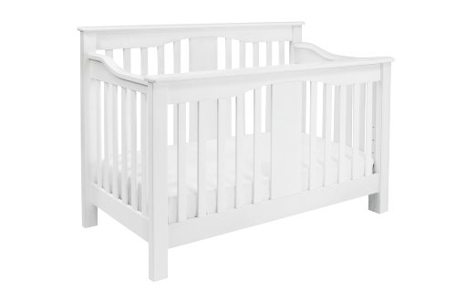 Million Dollar Baby Classic Annabelle 4-In-1 Convertible Crib, White