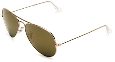 Ray-Ban 0RB3025 Aviator Sunglasses,Gold Frame/Gold Mirror Lens,One Size