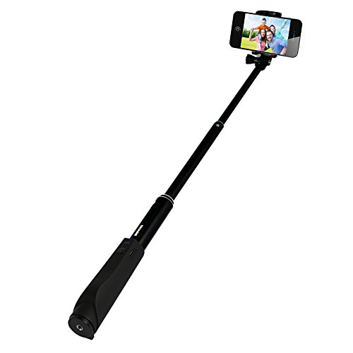 comparamus kmashi extendable selfie stick wireless bluetooth self portrait monopod for iphone. Black Bedroom Furniture Sets. Home Design Ideas