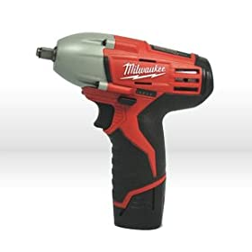 Milwaukee 2451-22 M12 12-Volt 3/8-Inch Cordless Square Drive Impact Wrench with Ring