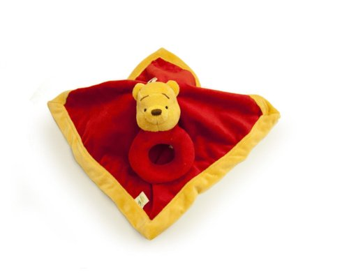 Disney Winnie the Pooh Security Blanket & Rattle Set