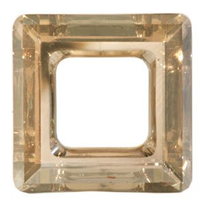 Cosmic square ring SWAROVSKI crystal golden shadow (laminato) 20mm (1)