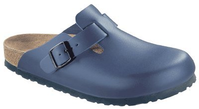 Birkenstock clogs Boston from Leather in blue with a narrow insole size 40.0 N EU