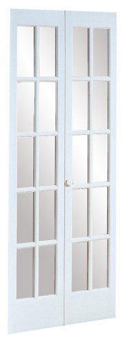 American Wood Products 852726 527 Traditional Divided Glass 30 by 80-Inch Bifold Door, Unfinished