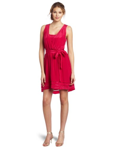 McGinn Women's Elle Silk Dress, Hot Pink, 2