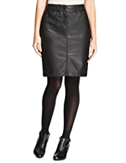 M&S Collection Faux Leather Pencil Skirt