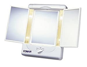 Amazon.com: Conair Tm7lx-320 Illumina Three Panel Make-up Mirror W/4 Light Settings: Beauty