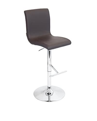 LumiSource Spago Bar Stool, Brown