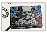 Bio World MIAMI INK AMERICAN COLLAGE BLACK LEATHER WALLET