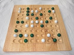 Tic-Tac-Ku Solid Wood Game Green/White
