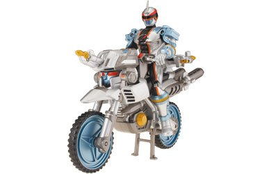 Power Rangers Operation Overdrive Trans-Cycle with Power Ranger - ZordTek with Mercury Ranger