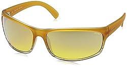Police Iridium Sport Men's Sunglasses (S1863M71AEXXSG 71 Yello with Silver Mirror lens)
