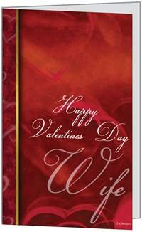 Valentines Day Lover Spouse Beautiful Heart Wife Greeting Card 5x7 by QuickieCards