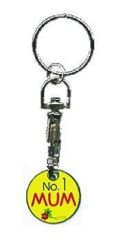 Number 1 Mum Trolley / Locker Coin Keyring