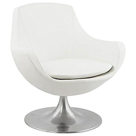 "Paris Prix - Fauteuil Design ""Bellay"" Blanc"