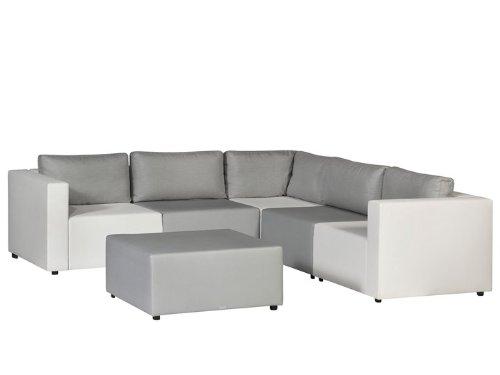MAXX Lounge Gartenmöbel Lounge Gartenset 6-teilig Silvertex