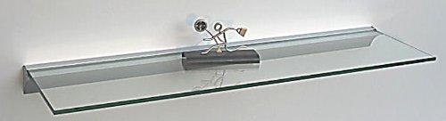 Glasregal 110×15 cm /8 mm KlarGlas Wandprofil LINO8 Alu silber / Glasablage