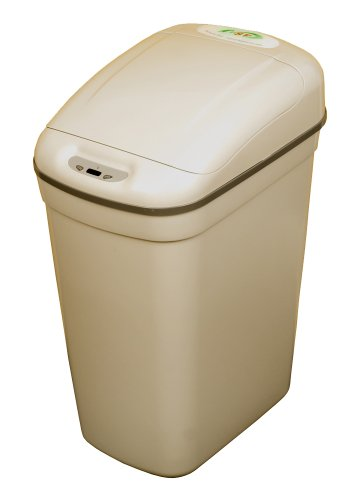 NST Nine Stars DZT-20-1 Infrared Touchless Automatic Motion Sensor Lid Open Trash Can, Grey, 5.3-Gallon (Nine Stars Trash Can Lid compare prices)