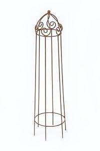 rankhilfe krone rund klein rankgitter edelrost h he 115 cm. Black Bedroom Furniture Sets. Home Design Ideas