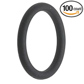 "-024 EPDM O-Ring, 70A Durometer, Black, 1-1/8"" ID, 1-1/4"" OD, 1/16"" Width (Pack of 100)"