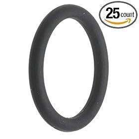 "-141 EPDM O-Ring, 70A Durometer, Black, 2-5/16"" ID, 2-1/2"" OD, 3/32"" Width (Pack of 25)"