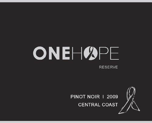 2009 Onehope Central Coast Reserve Pinot Noir 750 Ml