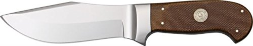 Canal Street D'Holder Bowie Fixed Blade Knife, 5.125In, Polished Stainlessbowie, Brown 1799529