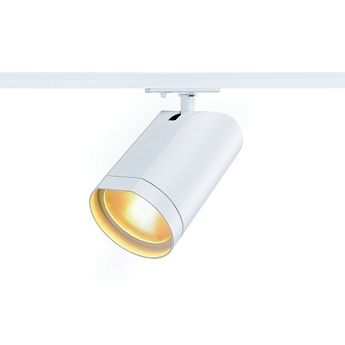 SLV 1-Phasen Strahler Bilas Spot Single, 15W, COB LED, 2700K, 60 Grad, inklusiv Adapter, weiß 143561