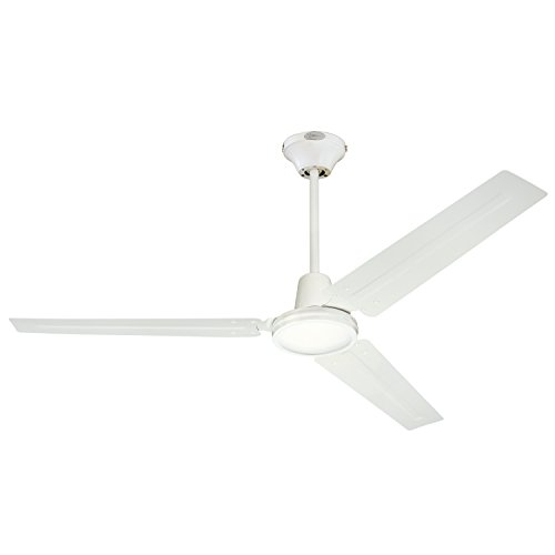 7812700 Industrial 56-Inch Three-Blade Indoor Ceiling Fan, White with White Steel Blades (White Modern Ceiling Fan compare prices)