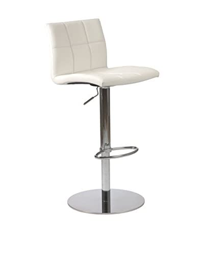 Eurostyle Cyd Adjustable Bar/Counter Stool, White