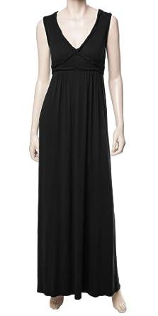 JERSEY MAXI DRESS BLACK, S