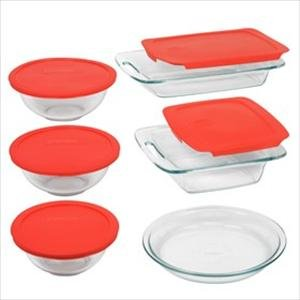 Brand-New Pyrex Easy Grab 11-Pc Bake-N-Store Set Popular Modern Design Practical