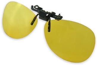 Yellow Night Vision Retro Polarized Clip-on Flip-up AVIATO RPlastic Sunglasses Driving Traveling