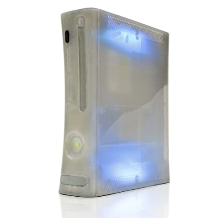 SPECIAL EDITION Xbox 360 GHOST CASE - SPEKTER CASE/HDMI/BLUE LIGHTS
