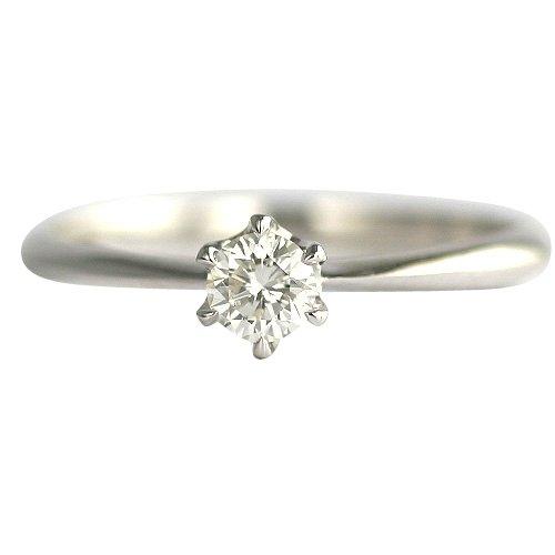 【 DIAMOND WORLD 】レディース ジュエリー PT900 ダイヤモンド リング 0.2ct 婚約指輪 エンゲージリング Gカラー SI2クラス Goodカット GGSJ ソーティング (鑑定書の元)付